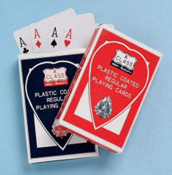 Picture of CARDS PLAYING PLASTIC COATED STANDARD SI
