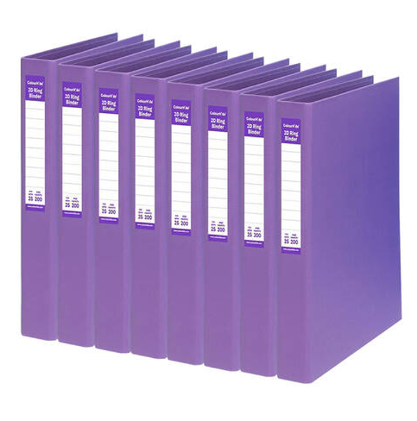 Picture of 2 ring binder 25mm purple