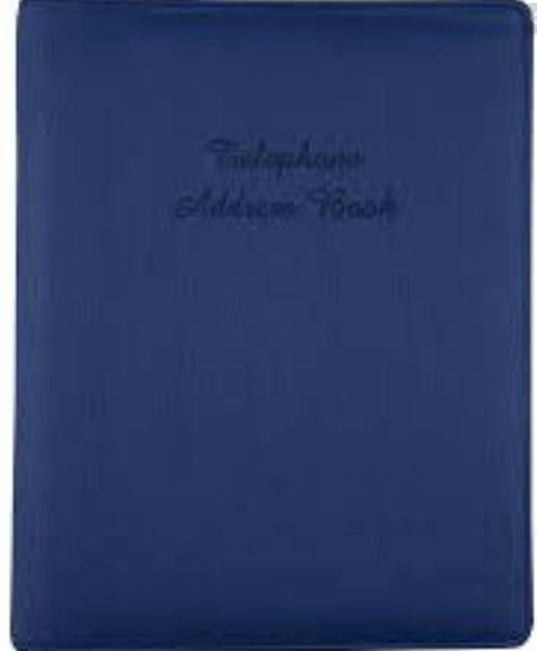 Picture of ADDRESS BINDER 6RING 210X148 NAVY