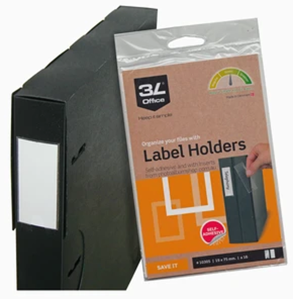 Picture of 3L LABEL HOLDERS 19x75mm