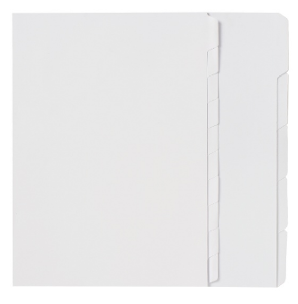 Picture of 5 Tab Dividers - Unpunched White Manilla