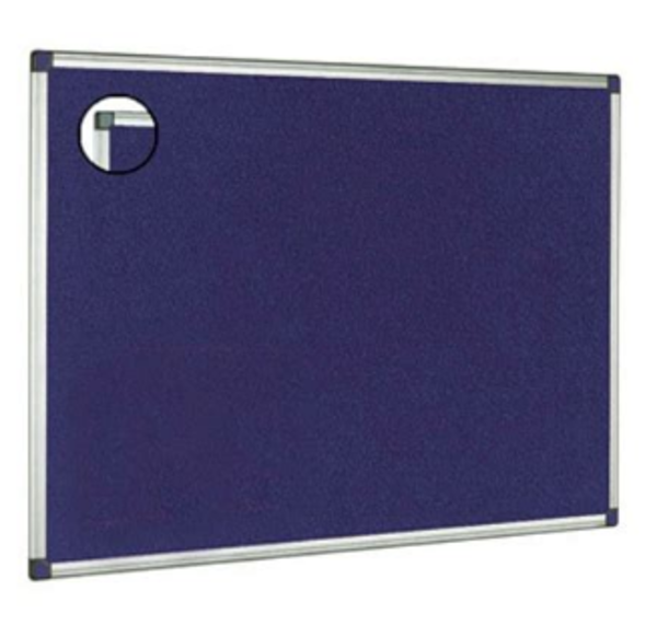Picture of ALUM FRAME FELTBOARD 450X600 BLUE
