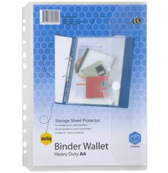 Picture of BINDER WALLET A4 MARBIG CLEAR