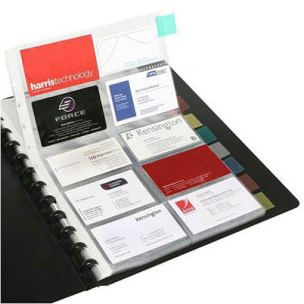 Picture of BUSINESS CARD BOOK KWIK ZIP A4 200 CAPAC