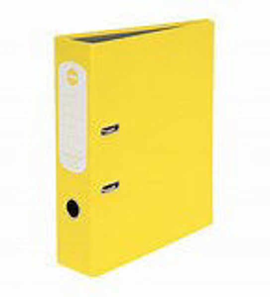 Picture of Lever Arch A4 Yellow Marbig Hi-Lites